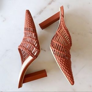 Cult Gaia Raya Woven leather mules. Size 36